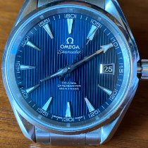 Omega Steel Automatic Blue 41.5mm pre-owned Seamaster Aqua Terra