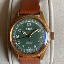 Oris Big Crown Pointer Date pre-owned 40mm Green Date Leather