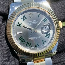 Rolex Datejust II Acero y oro 41mm Plata Romanos