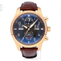 IWC Pilot Spitfire Perpetual Calendar Digital Date-Month Aur roz 46mm Gri Arabic