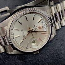 Rolex Day-Date 36 Witgoud 36mm Zilver Geen cijfers Nederland, breda