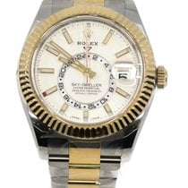 Rolex Sky-Dweller Gold/Steel 42mm White No numerals United States of America, New York, New York