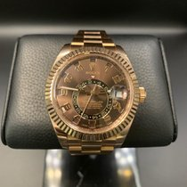 Rolex Sky-Dweller Rose gold 42mm Brown Roman numerals UAE, Dubai
