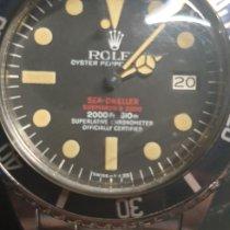 Rolex Sea-Dweller Сталь Черный Без цифр