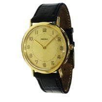 Seiko Yellow gold Quartz Gold Arabic numerals 34mm pre-owned