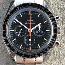 Omega Speedmaster Professional Moonwatch Stal 42mm Czarny Bez cyfr