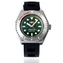H.I.D. Watch Steel 46mm Automatic PRODIVE 300 – All Steel Case Version (Green Dial with Golden Trim) new