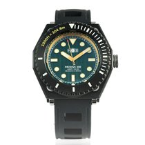 H.I.D. Watch Otel 46mm Atomat PRODIVE 300 – All Black Case Version (Green Dial with Golden Trim) nou