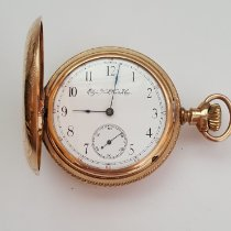 Elgin Vintage Elgin Pocket Watch, Yellow Gold Plated, 52 mm Case, Year 1893, Seven Jewel, Size 16s, Model 3, Grade 114, Very Good Condition 1893 używany