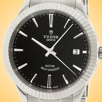 Tudor Style Acier 38mm Noir