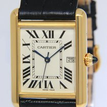 Cartier Yellow gold Quartz Silver Roman numerals 25.5mm pre-owned Tank Louis Cartier