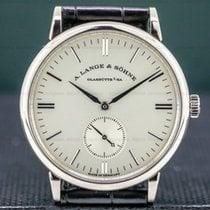 A. Lange & Söhne Ouro branco 35mm Corda manual 219.026 usado