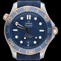 Omega Seamaster Diver 300 M Or/Acier 42mm Bleu Sans chiffres