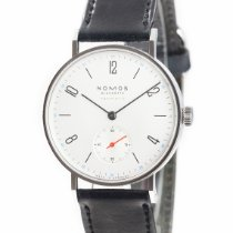 NOMOS Tangente Neomatik pre-owned 35mm White Leather