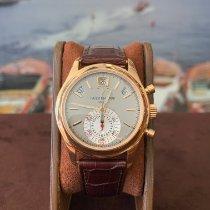Patek Philippe Annual Calendar Chronograph occasion 40.5mm Gris Chronographe Date Affichage des mois Calendrier annuel Cuir de crocodile