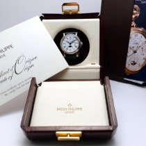 Patek Philippe Perpetual Calendar Or blanc 36mm Blanc Romains France, Paris
