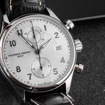 Frederique Constant Runabout Chronograph Steel 42mm Silver Arabic numerals