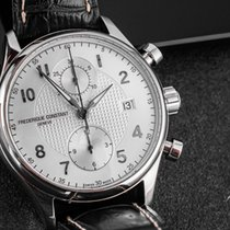 Frederique Constant Runabout Chronograph pre-owned 42mm Silver Chronograph Date Crocodile skin