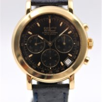 Zenith Yellow gold Automatic Black pre-owned El Primero Chronograph