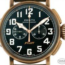 Zenith Pilot Type 20 Extra Special gebraucht 45mm Schwarz Chronograph Leder