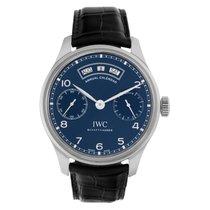 IWC Portuguese Annual Calendar Acero 44.2mm Azul