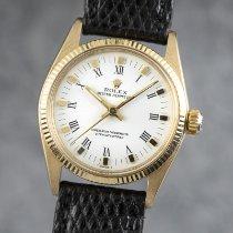 Rolex Oyster Perpetual 31 occasion 30mm Blanc Cuir de lézard