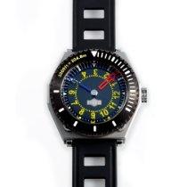 H.I.D. Watch Stahl 46mm Automatik M010211 (1,000ft~304.8m) Diver's Watch + P010208SS/BLK (2-Tone Outer Case) neu