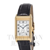 Jaeger-LeCoultre Yellow gold Manual winding Silver Arabic numerals 26mm pre-owned Reverso Grande Taille