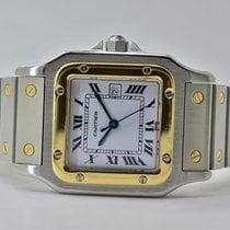 Cartier Santos Galbée Золото/Cталь 41mm Белый Римские