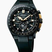 Seiko Astron GPS Solar Chronograph Titan Negru