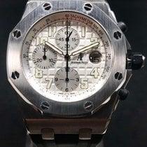 Audemars Piguet Royal Oak Offshore Chronograph occasion 42mm Blanc Chronographe Date Caoutchouc