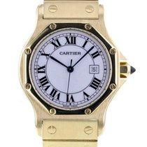 Cartier Желтое золото Автоподзавод 29mm подержанные Santos (submodel)