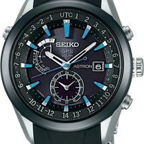 Seiko Astron GPS Solar Steel 47mm Black United States of America, New Jersey, Somerset