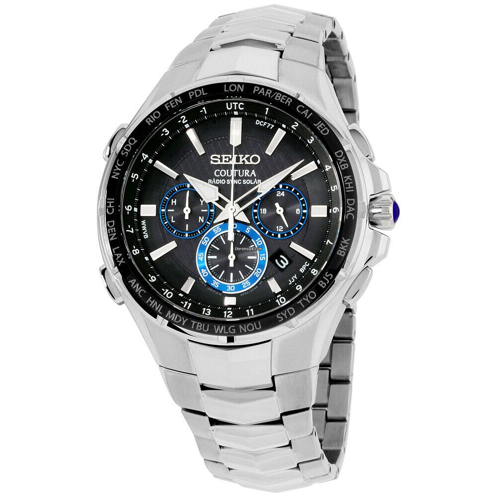 Seiko Coutura Solar Movement Silver Dial Men's Watch Ssc627