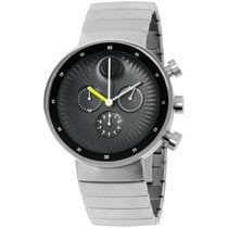 Movado Edge Staal 42mm Zwart