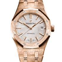 Audemars Piguet Royal Oak Lady Or rose 37mm Argent Sans chiffres