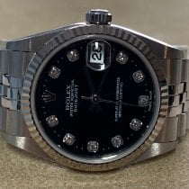 Rolex Lady-Datejust Stål 31mm Svart Romerska