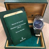 Rolex Datejust Oysterquartz Staal 36mm Blauw Geen cijfers