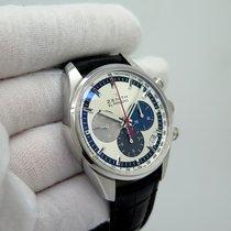Zenith El Primero Original 1969 pre-owned 38mm Silver Chronograph Date Crocodile skin