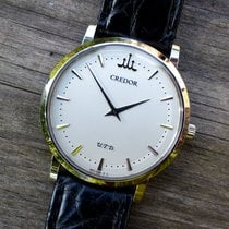 Seiko Or blanc 35mm Remontage manuel GBAQ983 occasion France, LOURDES