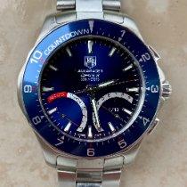 TAG Heuer Aquaracer 300M gebraucht 41mm Blau Chronograph Datum Monatsanzeige Ewiger Kalender Wecker Stahl