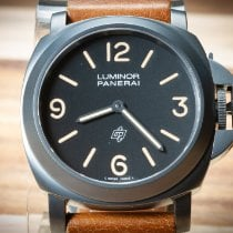 Panerai Steel Manual winding Black 44mm pre-owned Special Editions