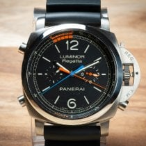 Panerai Luminor 1950 Regatta 3 Days Chrono Flyback PAM 00526 Very good Titanium 47mm Automatic