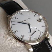 H.Moser & Cie. Oro blanco Cuerda manual Blanco Romanos 41,5mm usados Venturer