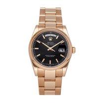 Rolex Day-Date 36 Oro rosa 36mm Negro Sin cifras