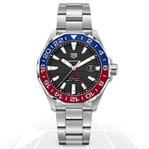 TAG Heuer Steel 43mm Automatic 7 GMT WAY201F.BA0927 new