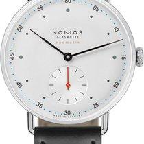 NOMOS Metro Neomatik Steel 35mm White United States of America, New York, Airmont