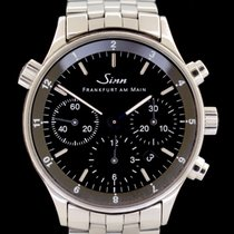 Sinn 6000 Steel 38.5mm Black No numerals