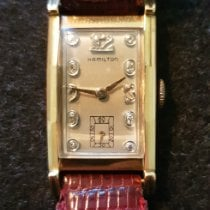 Hamilton Rose gold Manual winding Silver Arabic numerals 21mm pre-owned