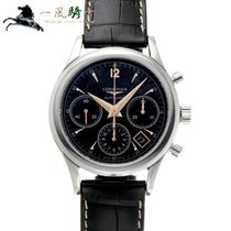 Longines Column-Wheel Chronograph Steel 39mm Black